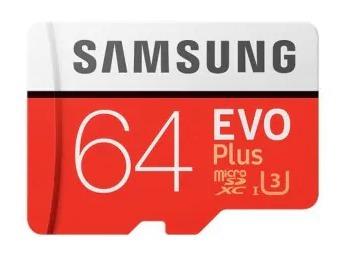 Cartã Memória Evo Plus Micro Sd 64gb U3 100mbs Novo 4k