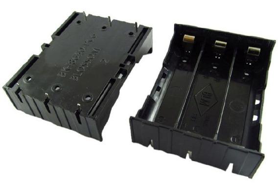 Kit Com 4 Suporte Para 3 Baterias 18650 Abs
