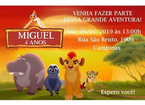 Convite Digital Guarda Do Leão
