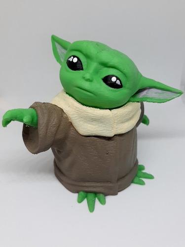 Imagen 1 de 3 de Figura Baby Yoda 3d - The Mandalorian - Star Wars -