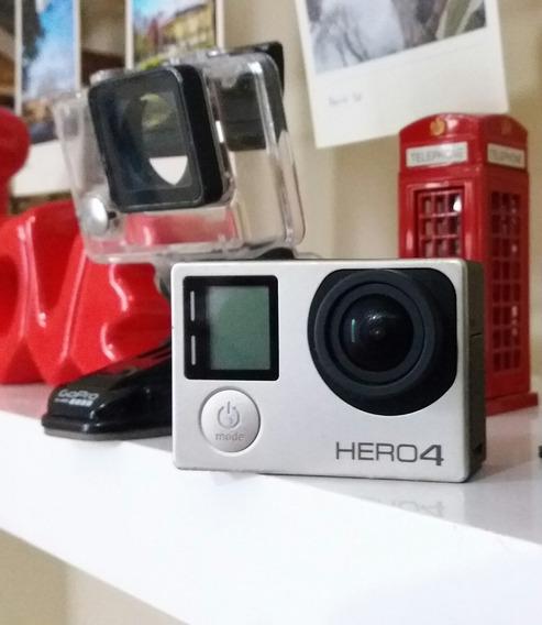 Câmera Gopro Hero 4 Silver Com Tela Lcd 12mp