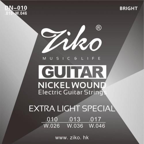 Imagen 1 de 4 de Cuerdas Guitarra Electrica 010 Nickel 010-046 Cuerda Ziko