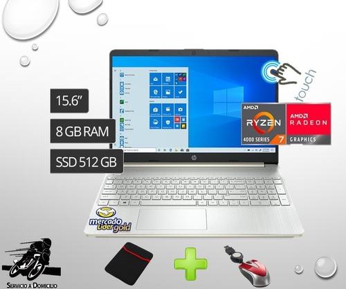 Laptop Portatil Hp Ef1013dx Ryzen 7-ssd 512gb/8gb/15.6 Touch