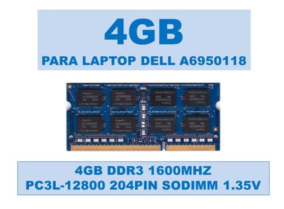 Memoria A6950118 4gb Ddr3 1600mhz Para Portátiles Dell 1.35v