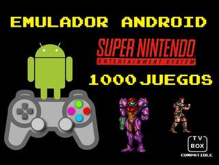 Emulador Android Celular Tvbox Super Nintendo Roms Super Nes
