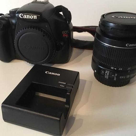 Câmera Canon Eos Rebel T3 Com Lentes + Flash E Mochila