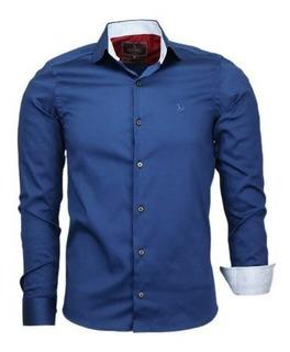 Camisa Amil Delux Tecido Acetinado Com Elastano Luxo Brilho