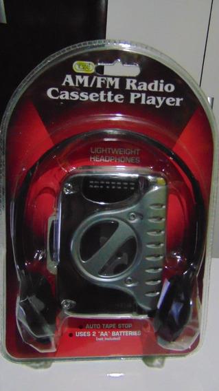 Walkman (fita K-7&rádio Am/fm) *tozaj Atc-74. Novo! Lacrado!