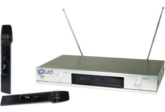 Microfone Sem Fio Ld-6630 Duplo Vhf Loud Novo De Qualidade