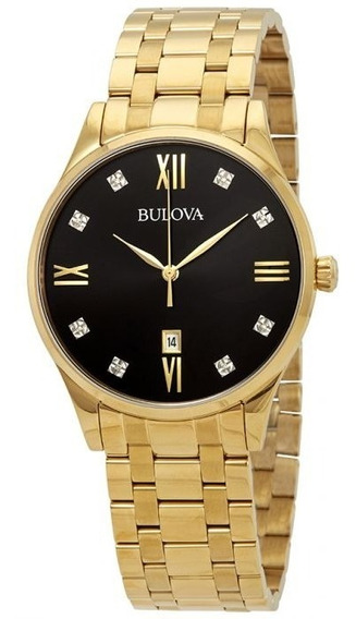 Relógio Bulova Masculino Diamond Black Original