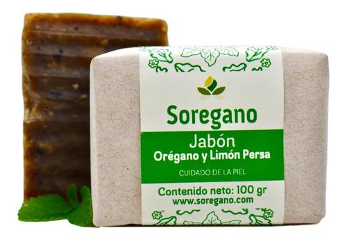 Jabón 100%natural Orégano Y Limón Persa Sorégano