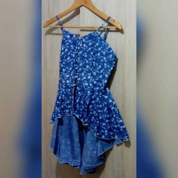 Blusa Sisa Estampada Con Bolero Al Final ,color Azul