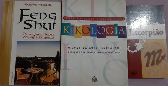 Livro Kikologia Auto-revelação + Feng Shui + Escorpião