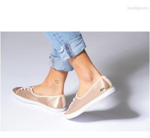 Zapatillas Lacoste Ziane Doradas Mujer