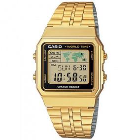 Relógio Casio A500wga-1adf Padrão Masc Dourado- Refinado