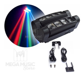 Mini Moving Spider Beam 8 Leds De 5w Rgbw Strobo Dmx