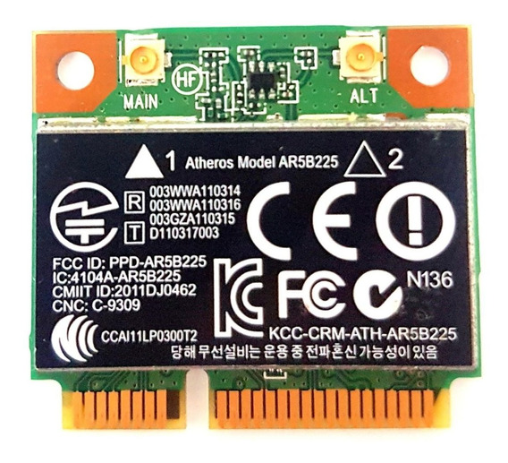 Placa Wireless Wifi Hp 450 Atheros Ar5b225 Wcbn608ah