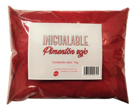 Pimentón Español Rojo Paprika 1kg Condimento Color Sabor