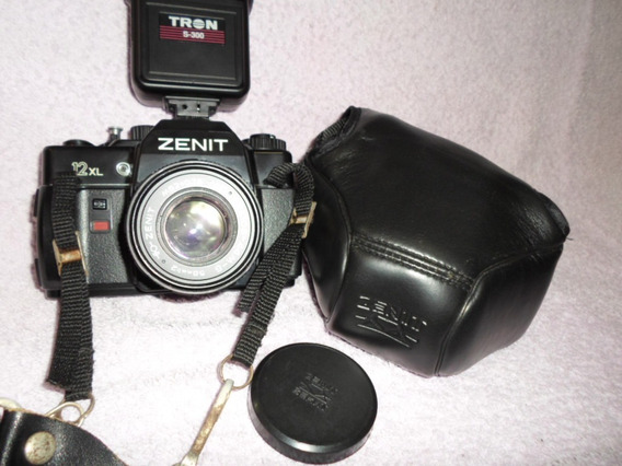 Zenit 12xl Antiga + Flash Tron + Bolsa Profissional. Veja!!!
