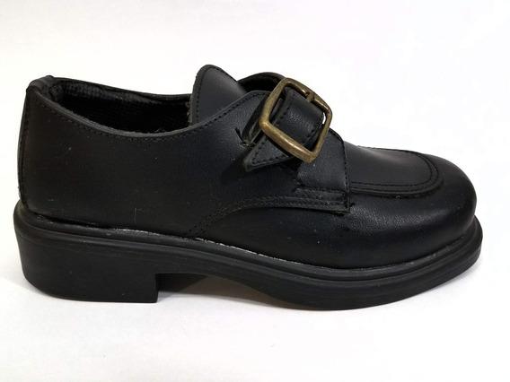 Zapato Colegial Con Hebilla