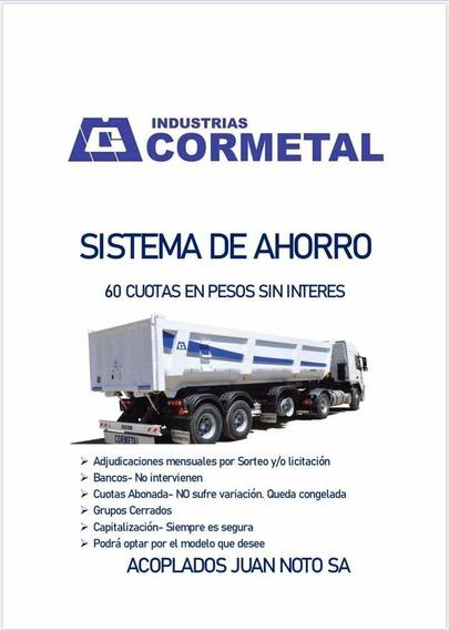 Semirremolque Cormetal Okm,14,40mts,ejes 2+1. 60 Cuotas !!!
