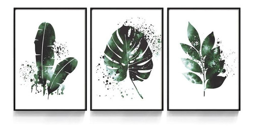Quadro Decorativo Costela De Adão Verde Folhas Sala Quarto