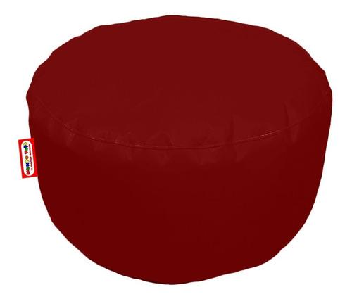 Imagen 1 de 2 de Sillon Puff Circular Grande Vino Soporta Hasta 115 Kgs