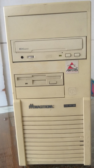 Microcomputador Antigo Amd K5, 32 Megas Cd 8x Hd 40 G