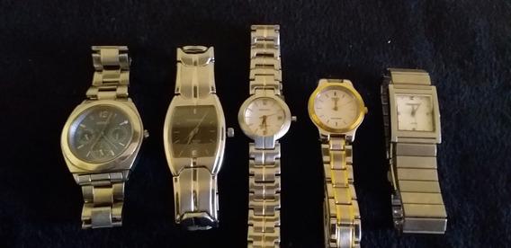 Lote 4 Relógios De Pulso Feminino E Masculino