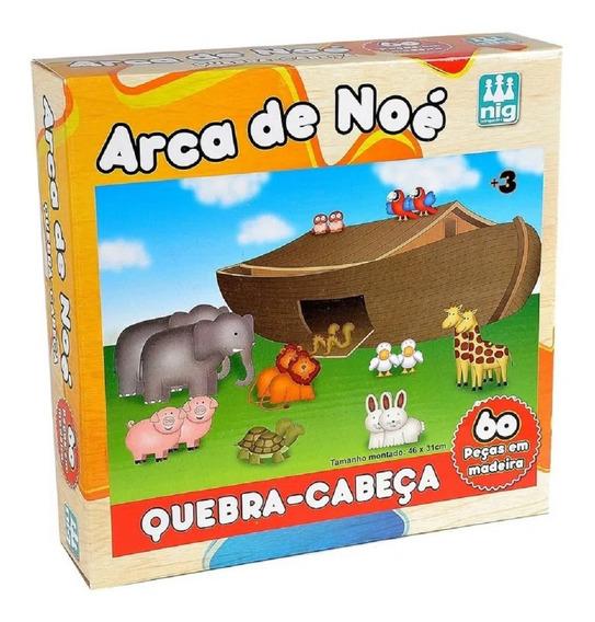 Quebra Cabeça Infantil Arca De Noé - Nig Brinquedos