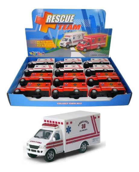 Miniatura Ambulância Colecionável Escala 1:34