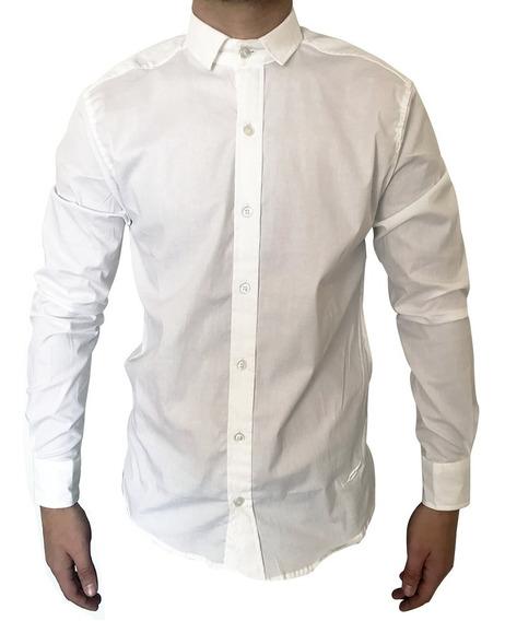 Camisas Elastizadas Hombre Lisas Vestir Envio Gratis