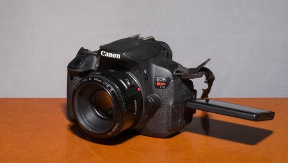 Canon T5i Lente 50mm F1.8 Carregador Bateria