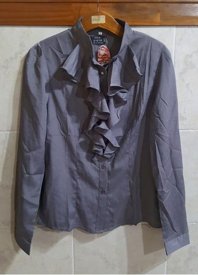 Camisa Manga Larga - Saten - Raso