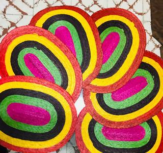 Juego De Tapetes Para Comedor 100% Artesanales! Colores