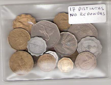15 Monedas No Redondas Diferentes ¡ Aprovecha !