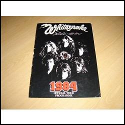 Whitesnake 1984 Programa Oficial Gira David Coverdale Purple