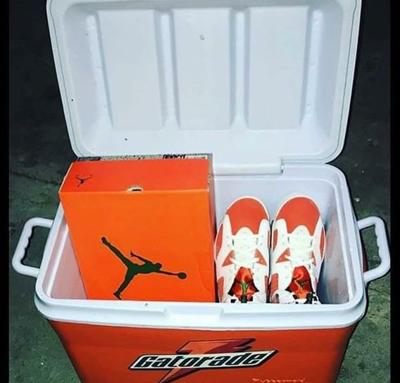 Air Jordan Retro 6 Gatorade Blanco Naranja