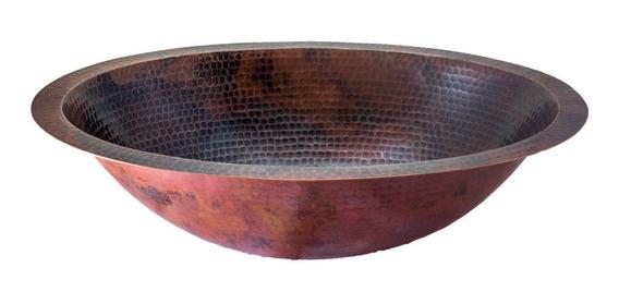 Lavabo Ovalin De Cobre Para Baño - Cosasdecobre