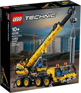 Lego 42108 Mobile Crane, Grua Mobil , 2 En 1, Envío Plus
