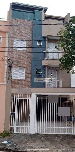 Cobertura Com 2 Dormitórios À Venda, 81 M² - Vila Pires - Santo André/sp - Co1006