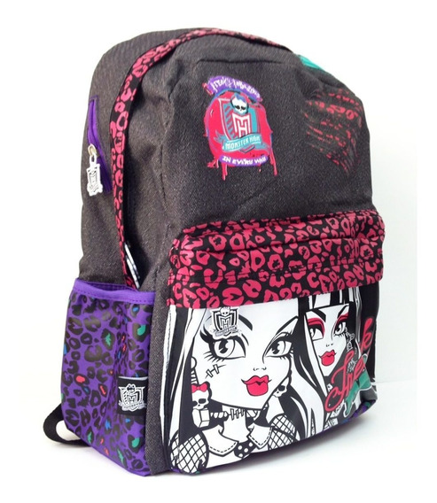 Mochila De Espalda Monster High Con Lic Original 16