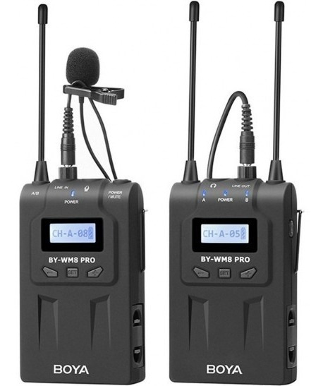 Microfone Sem Fio Boya By-wm8 Pro-k1 (canon/nikon/sony)
