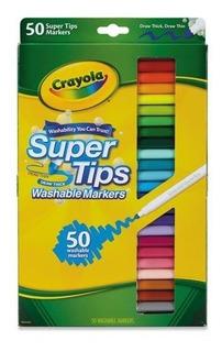 Crayola Marcadores Lavables Super Tips Caja De 50