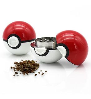 Grinder Pokeball 3 Partes Polinizador Pokemon Moledor Hierba