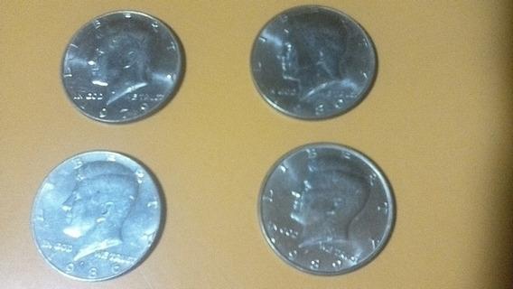 Moneda Kenedy Half Dollar 4 1979, 80, 86 Y 89