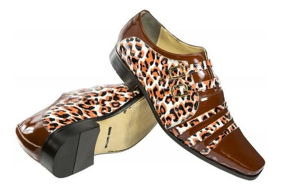 Sapato Social Masculino Bicolor Luxo Diferente Artesanal
