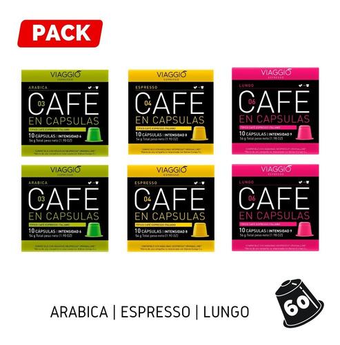 Pack 60 Cápsulas Café Para Nespresso