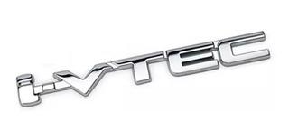 Emblema I-vtec Cromado Honda Ivtec Civic Crv Fit City Accord