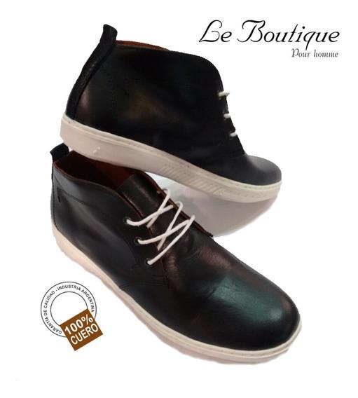 Zapato Urbano Media Caña Foot Notes Color Negro 1905